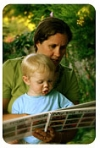Mother & Son Reading